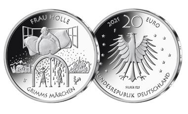 "20-Euro-Sammlermünze 2021 ""Frau Holle"""