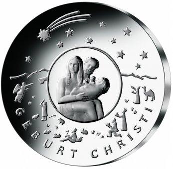 """25-Euro-Sammlermünze 2021 """"Weihnachten - Geburt Christi"""""""