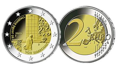 """2-Euro-Sonderset 2020 """"50 Jahre Kniefall von Warschau"""""""