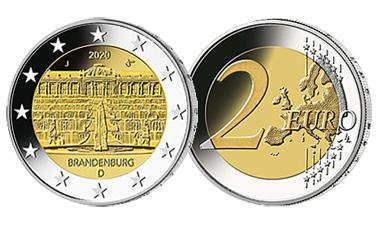 """2-Euro-Sammlermünzen-Set 2020 """"Bundesländer"""""""