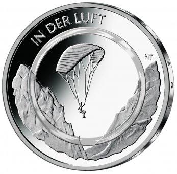 """10-Euro-Polymerring-Sammlermünze 2019 """"In der Luft"""""""