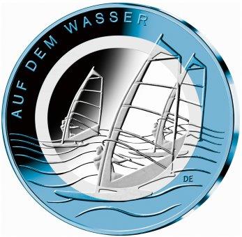 """10-Euro-Polymerring-Sammlermünze 2021 """"Auf dem Wasser"""""""