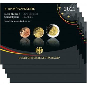 Kursmünzenserie Sammlermünzen-Set 2021