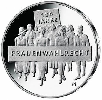 """20-Euro-Sammlermünze 2019 """"100 Jahre Frauenwahlrecht"""""""