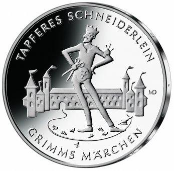 """20-Euro-Sammlermünze 2019 """"Tapferes Schneiderlein"""""""