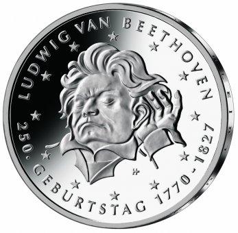 "20-Euro-Sammlermünze 2020 ""250. Geburtstag Ludwig van Beethoven"""