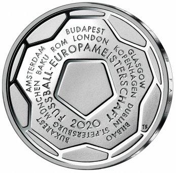 """20-Euro-Sammlermünze 2021 """"Fußball-Europameisterschaft 2020"""""""