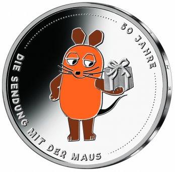 """20-Euro-Sammlermünze 2021 """"50 Jahre Sendung mit der Maus"""" Spiegelglanz Spiegelglanz"""
