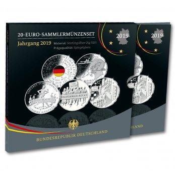 20-Euro-Sammlermünzen-Set 2019 Spiegelglanz