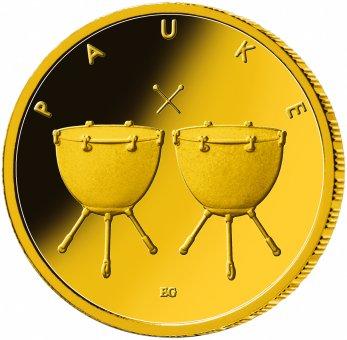 "50-Euro-Goldmünze 2021 ""Musikinstrumente - Pauke"""