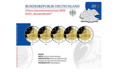 """2-Euro-Sammlermünzen-Set 2018 """"Bundesländer"""""""