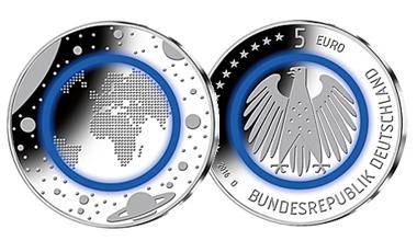 "5-Euro-Polymerring-Sammlermünze 2016 ""Planet Erde"""