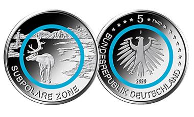 "5-Euro-Polymerring-Sammlermünze 2020 ""Subpolare Zone"""