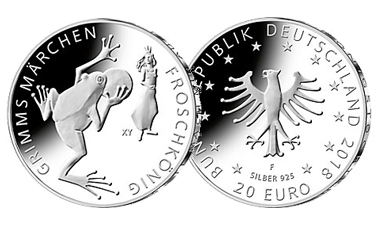 """20-Euro-Sammlermünze 2018 """"Froschkönig"""""""