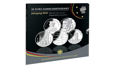 20-Euro-Sammlermünzen-Set 2016 Spiegelglanz