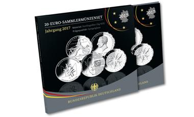 20-Euro-Sammlermünzen-Set 2017 Spiegelglanz