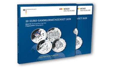 20-Euro-Sammlermünzen-Set 2020 Spiegelglanz
