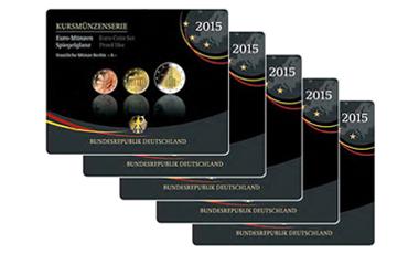 Kursmünzenserie Sammlermünzen-Set 2015