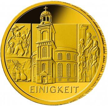 """100-Euro-Goldmünze 2020 """"Säulen der Demokratie - Einigkeit"""""""
